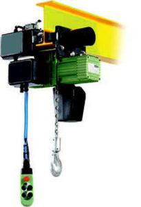 Paranchi elettrici a catena 400V 50Hz con carrello di traslazione elettrico