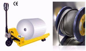 Transpallets per il sollevamento bobine da 750 a 1200 mm