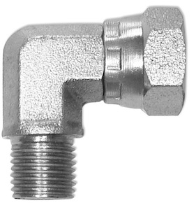 Adattatore a 90° compatto - maschio / femmina girevole - gas cilindrico