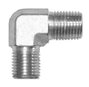 Adattatore a 90° - maschio gas cilindrico / maschio gas conico