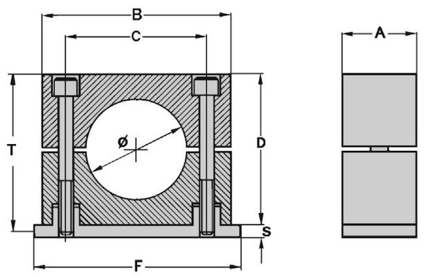 collare-fissatubo-serie-standard-dis-b