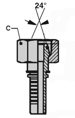 femmina-diritta-metrica-ogiva-24-serie-pesante-dkos-mtk-dis