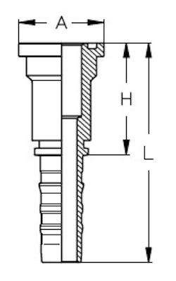 flangia-diritta-sae-j518-3000-psi-codice-61-powerspeed-dis