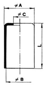 Ghiere bassa pressione terminali in alluminio