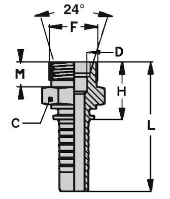 maschio-metrico-svasato-24-serie-francese-standard-dis