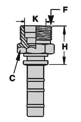 maschio-metrico-svasato-24-serie-pesante-dkos-powertrak-dis