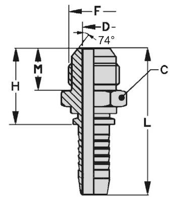 maschio-metrico-testa-conica-74-standard-dis