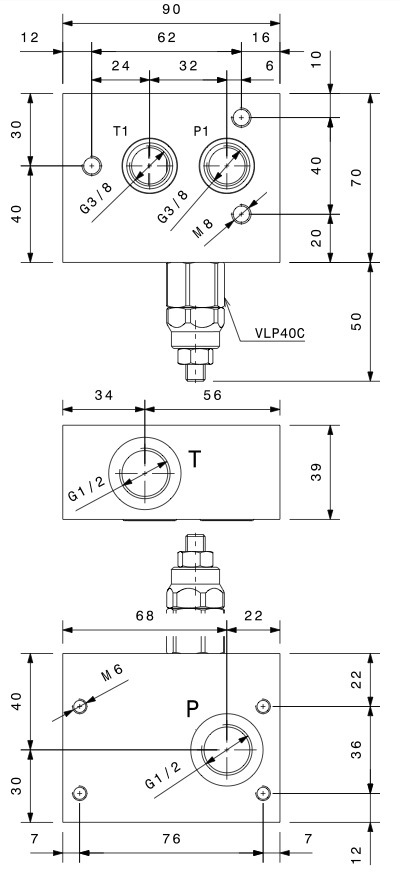 base-per-piastre-componibili-con-valvola-limitatrice-di-pressione-cetop-3-dis3
