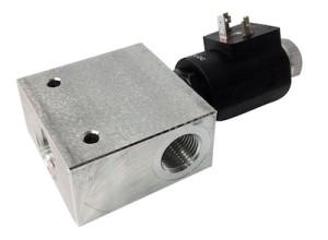 Deviatore elettrico 3 vie 250 bar 50 l/min - Alluminio