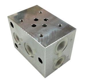 Piastra componibile per elettrovalvola CETOP 3 - in parallelo