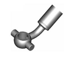 Raccordi ad occhio curvi 10mm per freni  - GBHFB29