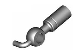 Raccordi ad occhio diritti 10mm per freni  - GBHFB02