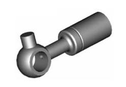 Raccordi ad occhio diritti 10mm per freni  - GBHFB28