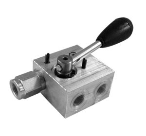Valvole di blocco pilotata a semplice effetto con rubinetto manuale tenuta a sfera - sinistra