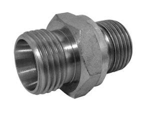 Terminale din diritto con guarnizione piana - filetto gas cilindrico (solo corpo)