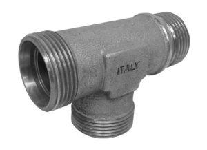 """Terminale DIN a """"L"""" - filetto gas cilindrico (solo corpo)"""