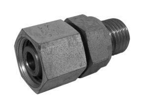 Bocchettone premontato con guarnizione piana - filetto metrico cilindrico
