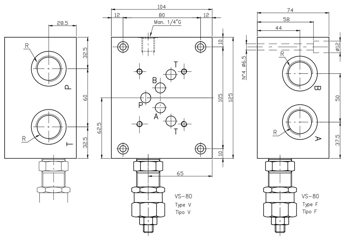 base-per-singola-elettrovalvola-cetop-5-con-valvola-limitatrice-di-pressione-connessioni-laterali-dis2