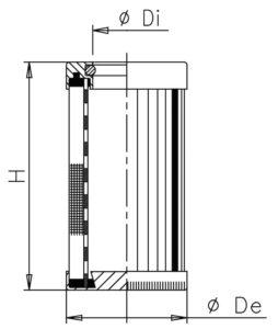 Cartucce per supporto filtro in scarico a semi immersione (completo di filtro sfiato aria) bassa pressione 1,5 bar con By-pass