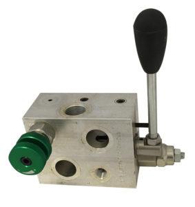 Rotodeviatore con valvola limitatrice di pressione e strozzatore flangiabile mediante viti cave su motori DANFOSS OMP-OMR