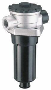 Supporto filtro in scarico a semi immersione (completo di filtro sfiato aria) bassa pressione 1,5 bar con By-pass
