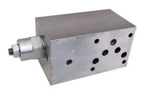 Valvola overcenter semplice effetto modulare CETOP 5
