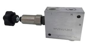 Valvola riduttrice di pressione diretta con valvola di non ritorno