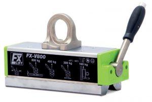 FX-V Sollevatori magnetici permanenti speciali con prisma a 90° per travi, profili e carichi ad alta temperatura