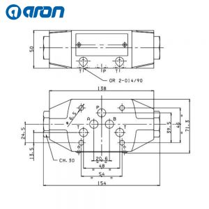 Valvola di blocco doppia modulare CETOP 5 (280bar / 80L) (ARON)